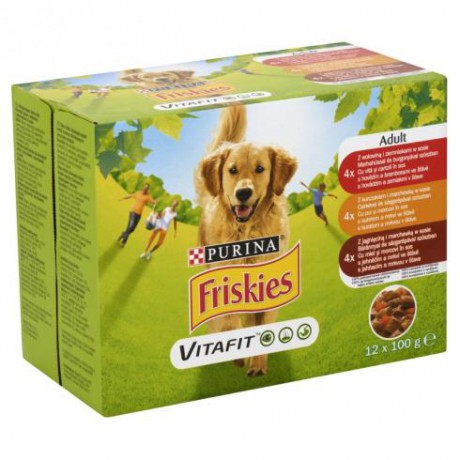Friskies dog 12x100g: 1300Ft